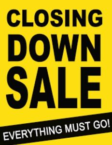 Closing down sale for salon furniture and products