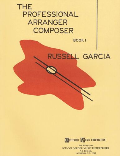 The Professional Arranger Composer Book 1 Book NEW 000004020