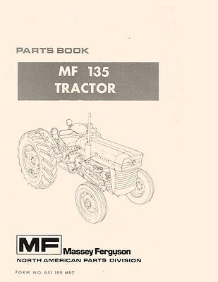 Massey Ferguson Mf 135 Tractor Parts Book Manual Mf135