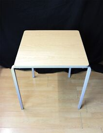 10x Solid Oak Metal Frame Stackable Table Tables Office Home Event