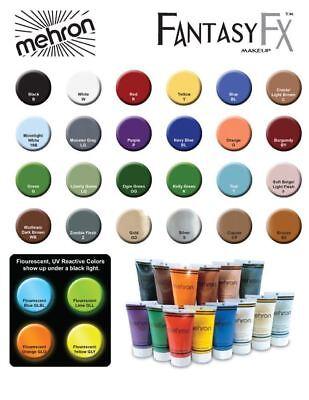 Cream Halloween Makeup - Halloween Fantasy FX Cream Makeup Mehron  12 Colors Water Washable Free Shipping