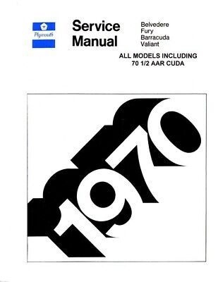 1970 Plymouth Shop Service Repair Manual Engine Drivetrain Electrical Body OEM
