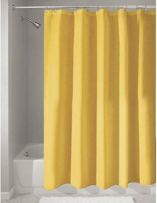 iDesign Poly Bath Curtains, Long Shower Curtain,Polyester, Yellow 180 x 180 cm