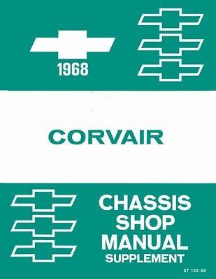 1968 Chevrolet Corvair Shop Service Repair Manual Engine Drivetrain Electrical (Corvair Repair Manual)