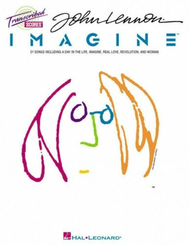 John Lennon Imagine Transcribed Scores 21 Songs! Guitar Bass Drums Book NEW!