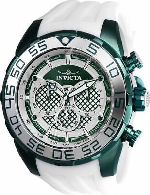 Invicta Speedway 26313 Men's Ocean Green Round Analog Chronograph Silicone Watch Ocean Green