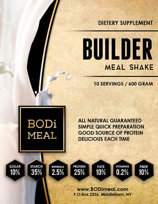 BODi BUILDER MEAL SHAKE - Complete Nutritional Powder (20 & 60