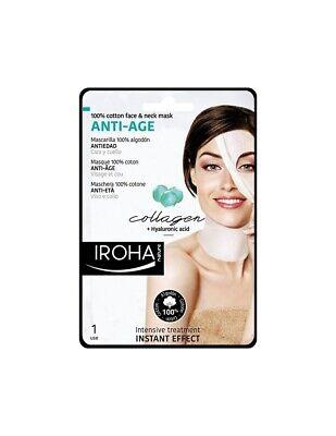 Iroha Nature Collagen & Hyaluronic Anti Age Face & Neck Cotton Mask (SINGLE USE)