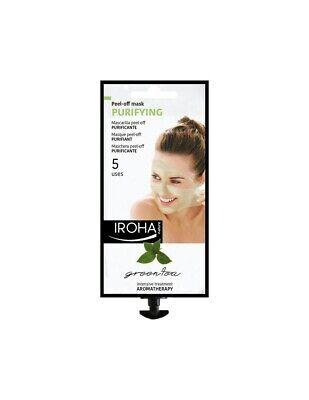 Iroha Nature Purifying Green Tea Paraben Free Peel-Off Mask 25g - 5 Use Sachet