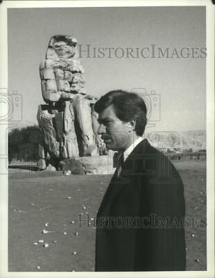 1980 Press Photo Robin Ellis as an archeologist in The Curse of King Tut's (The Curse Of King Tuts Tomb 1980)
