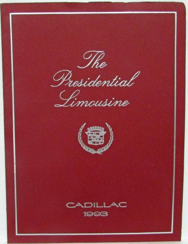 1993 Cadillac - The Presidential Limousine Press Kit - President Clinton