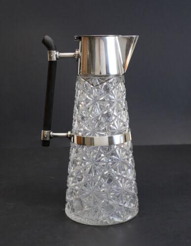 Hukin & Heath Silverplate Mount and cut glass Claret Jug Christopher Dresser