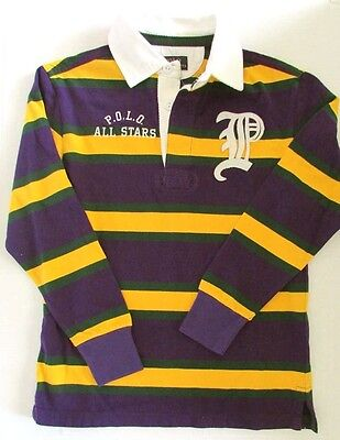 - NWT Polo Ralph Lauren Kids Boys Collegiate Embroidered Rugby Shirt Size XL