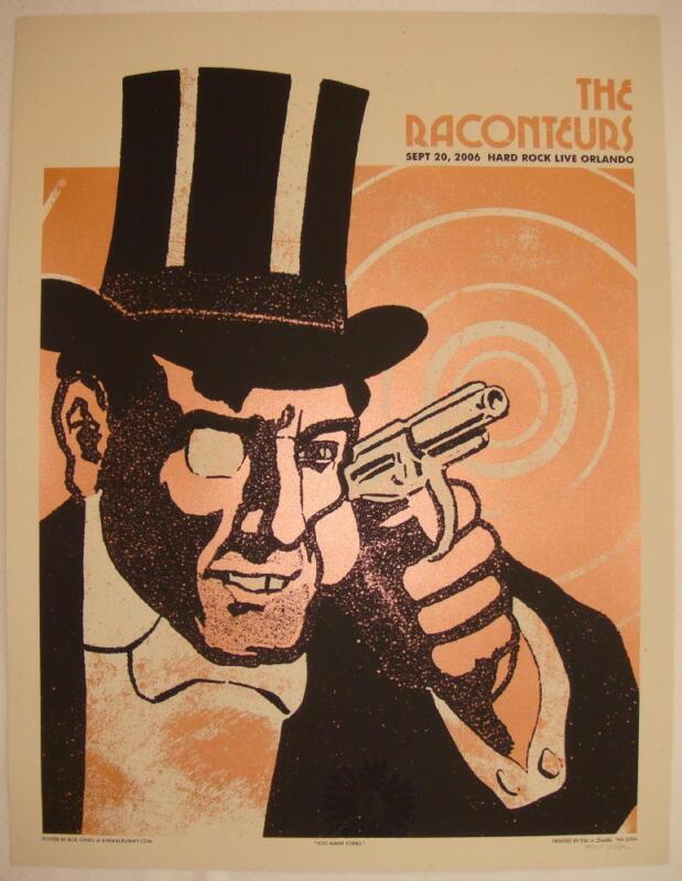 2006 The Raconteurs - Orlando Silkscreen Concert Poster s/n by Rob Jones