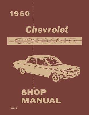 1960 Chevrolet Corvair Shop Service Repair Manual Engine Drivetrain Electrical (Corvair Repair Manual)
