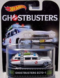 ghostbusters modellino auto ecto 1 movie version 1 64 hot. Black Bedroom Furniture Sets. Home Design Ideas
