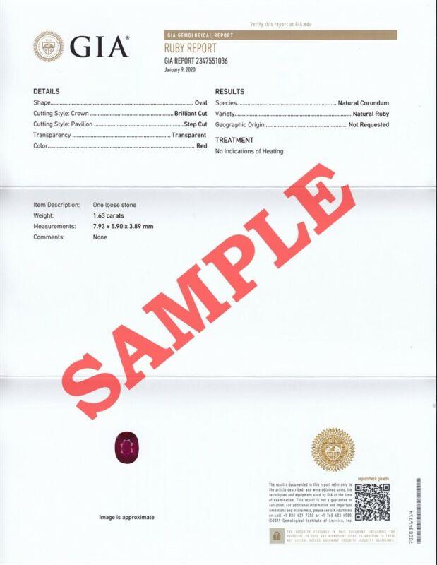 GIA   Gemological Institute of America Full Report (Service)