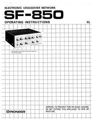 Pioneer SF-850 Receiver Owners Manual