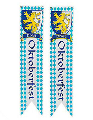 2 Oktoberfest Wall Pennants Flag Banner Party Beer Bar Decor Float Supply