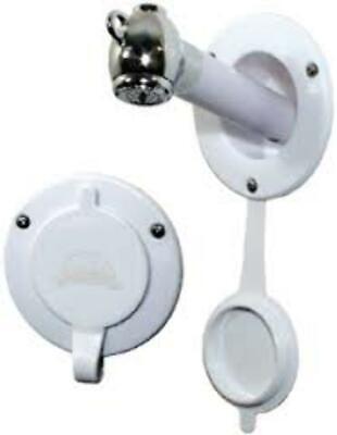 Scandvik 45Deg Recessed Shower/Wash Dow, On/Off Push Button, Chrome 10750P LC Chrome Recessed Push Button