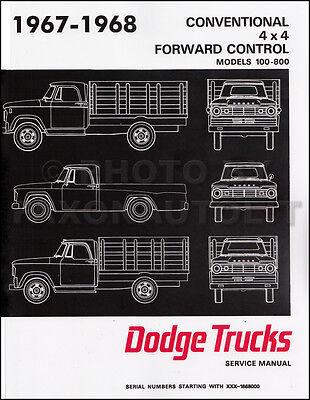 1968 Dodge Truck Shop Manual includes 67 Pickup Power Wagon Repair Service Book