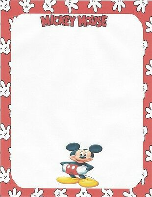 Mickey Mouse Posing Stationery Printer Paper 26 Sheets - Mickey Mouse Stationery