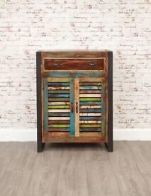Rustic Storage Cupboard Reclaimed Boat Wood Industrial Drawer