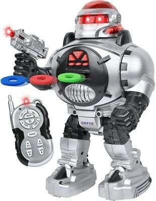Remote Control Robot For Kids (Click N' Play Remote Control Shooting Robot for)
