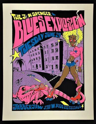 Jon Spencer Blues Explosion POSTER Silkscreen Pablo POG Jabberjaw Los Angeles