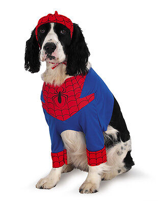 Spiderman Dog Costume (Spider-Man Spiderman Marvel Comic Pet Dog)