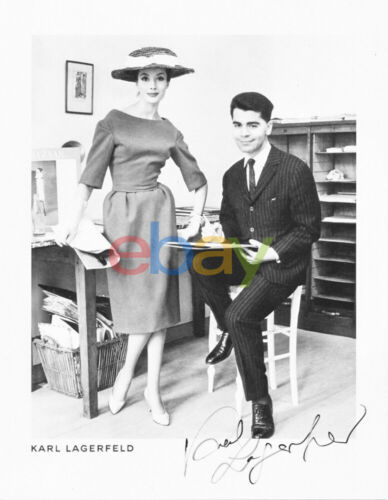 KARL LAGERFELD AUTOGRAPH 8x10 signed photo reprint