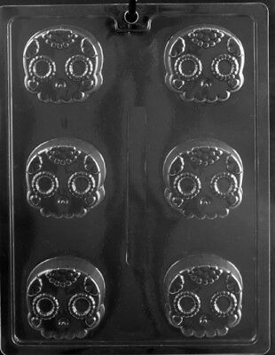 H177  Day of the Dead Skull Halloween Oreo Cookie Chocolate Mold w/Instructions ](Halloween Oreo Cookie Molds)