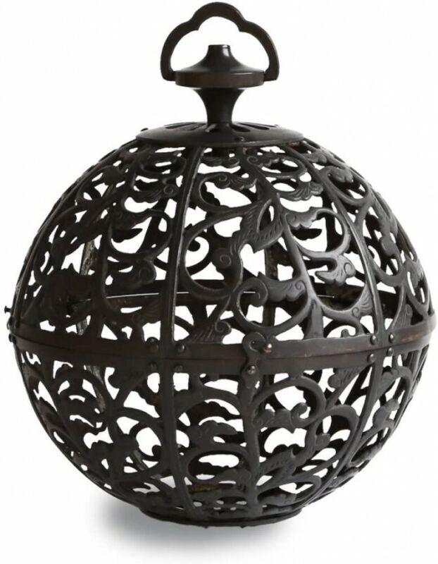Toro Japanese Bronze Hanging Lantern Takaoka Craft Sukashi Karakusa Japan
