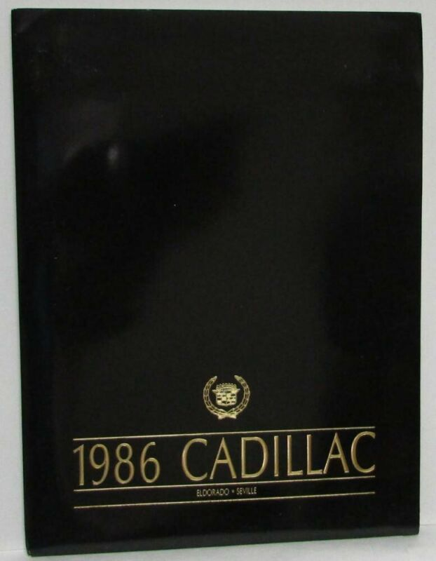 1986 Cadillac Eldorado & Seville Press Kit