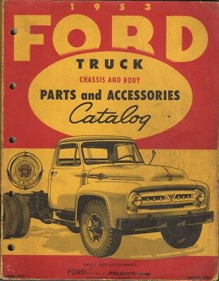 1953 FORD Truck Chassis And Body Parts and Accessories Catalog