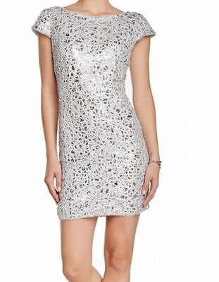 Lace Shift - Adrianna Papell Sequined Lace Shift Dress $209 Size 6P # 1B 320 NEW