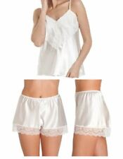 Satin Camisole /& French Knicker  With Deep Lace Trim up to size 26 8 Colours