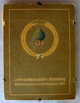 s1764) Lebensmittelmarken Sammlung des Kommunalverbandes Augsburg-Stadt