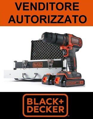 BLACK + DECKER Destornillador Taladro Percusión 2 Batería 18V Litio + Kit...