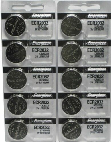 Lot of 10 Energizer ECR2032 Genuine Fresh Date CR2032 2032 L