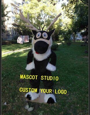 Deer Mascot Costume Cosplay  Outfit Advertising Halloween 2019 Party Game Dress