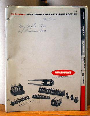 BUCHANAN Electrical Products Corporation 1964 Catalog G-102 & Price List P564