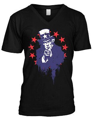 Uncle Sam   Usa Pride America 4Th Of July Mens V Neck T Shirt