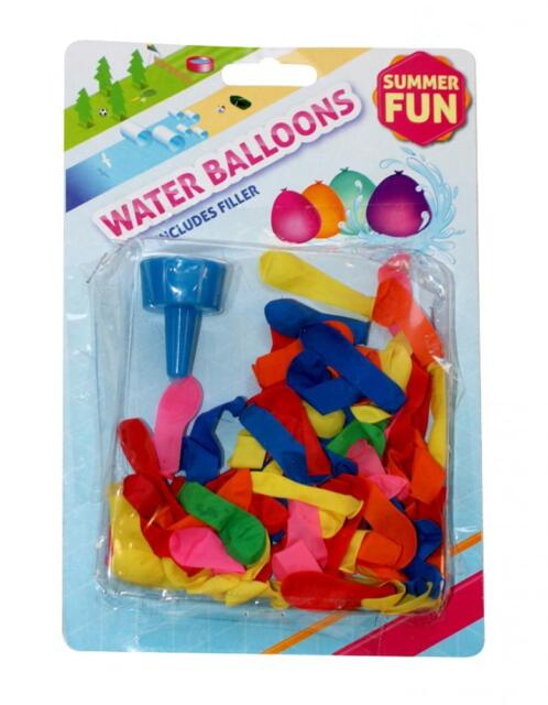 BoyzToys RY797 Summer Fun Brightly Coloured Water Balloons Assorted Colours 75+