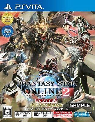 Used Game PS Vita Phantasy Star Online 2 Episode 2 Deluxe package SEGA #