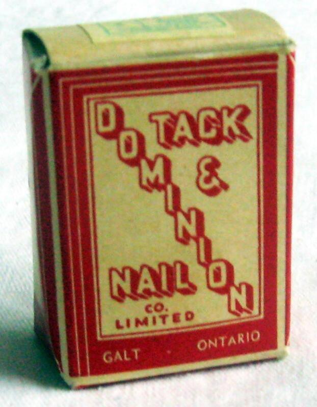 DOMINION TACK and NAIL ~ Vintage Box of Nails