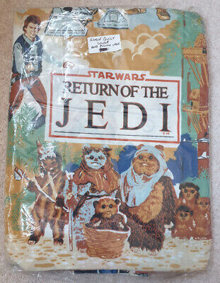 STAR WARS KENNER VINTAGE RETURN OF THE JEDI BED SET DUVET QUILT & PILLOW BROWN