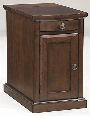 Ashley Furniture Chair Side End Table Power Chairside End Tables Medium Brown