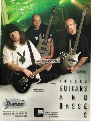 2003 IBANEZ Electric Guitars & Basses COREY TAYLOR Josh Rand Vintage Ad