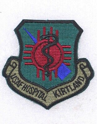USAF Air Force Patch: Kirtland AFB Hospital - subdued